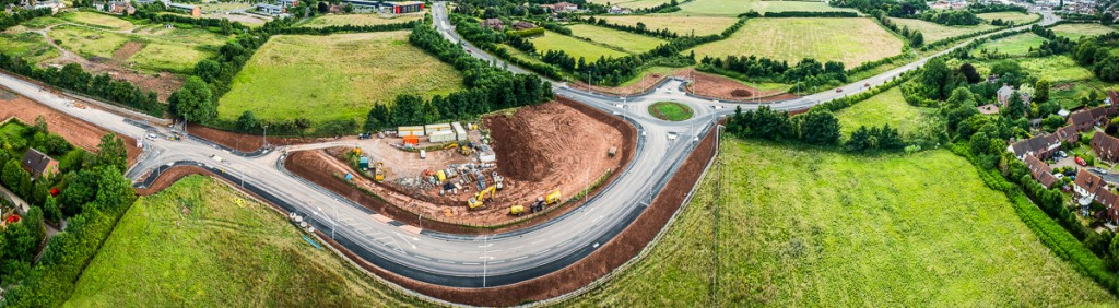 The New Exeter Link road under construction